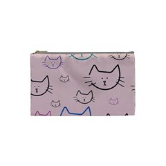 Cat Pattern Face Smile Cute Animals Beauty Cosmetic Bag (small)