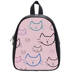 Cat Pattern Face Smile Cute Animals Beauty School Bag (small)