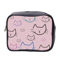 Cat Pattern Face Smile Cute Animals Beauty Mini Toiletries Bag 2 Side