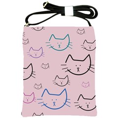 Cat Pattern Face Smile Cute Animals Beauty Shoulder Sling Bags