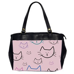 Cat Pattern Face Smile Cute Animals Beauty Office Handbags (2 Sides)