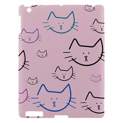 Cat Pattern Face Smile Cute Animals Beauty Apple Ipad 3/4 Hardshell Case