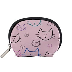 Cat Pattern Face Smile Cute Animals Beauty Accessory Pouches (small)