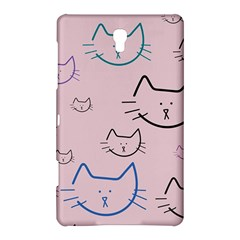 Cat Pattern Face Smile Cute Animals Beauty Samsung Galaxy Tab S (8 4 ) Hardshell Case