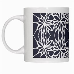 Blue White Lace Flower Floral Star White Mugs