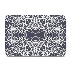 Blue White Lace Flower Floral Star Plate Mats