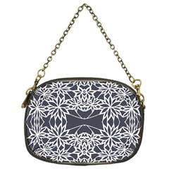 Blue White Lace Flower Floral Star Chain Purses (one Side)