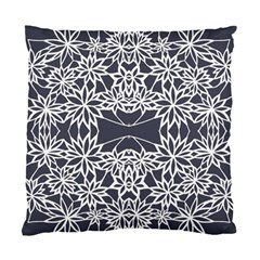 Blue White Lace Flower Floral Star Standard Cushion Case (one Side)