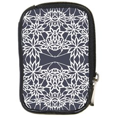 Blue White Lace Flower Floral Star Compact Camera Cases