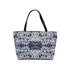 Blue White Lace Flower Floral Star Shoulder Handbags