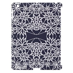Blue White Lace Flower Floral Star Apple Ipad 3/4 Hardshell Case (compatible With Smart Cover)