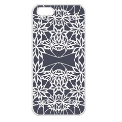 Blue White Lace Flower Floral Star Apple Iphone 5 Seamless Case (white)