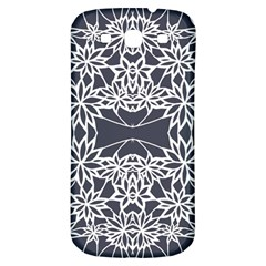Blue White Lace Flower Floral Star Samsung Galaxy S3 S Iii Classic Hardshell Back Case