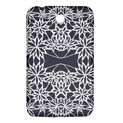 Blue White Lace Flower Floral Star Samsung Galaxy Tab 3 (7 ) P3200 Hardshell Case