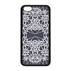 Blue White Lace Flower Floral Star Apple Iphone 5c Seamless Case (black)