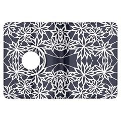 Blue White Lace Flower Floral Star Kindle Fire Hdx Flip 360 Case