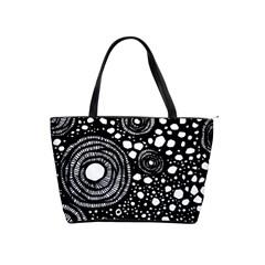 Circle Polka Dots Black White Shoulder Handbags