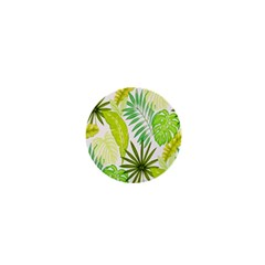 Amazon Forest Natural Green Yellow Leaf 1  Mini Magnets
