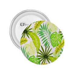Amazon Forest Natural Green Yellow Leaf 2 25  Buttons