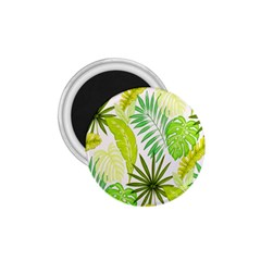Amazon Forest Natural Green Yellow Leaf 1 75  Magnets