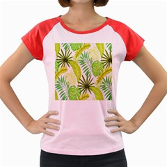 Amazon Forest Natural Green Yellow Leaf Women s Cap Sleeve T Shirt