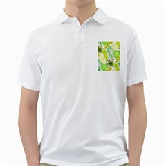 Amazon Forest Natural Green Yellow Leaf Golf Shirts