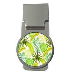 Amazon Forest Natural Green Yellow Leaf Money Clips (round)