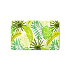 Amazon Forest Natural Green Yellow Leaf Magnet (name Card)