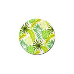 Amazon Forest Natural Green Yellow Leaf Golf Ball Marker