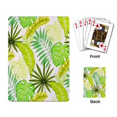 Amazon Forest Natural Green Yellow Leaf Playing Card