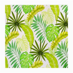 Amazon Forest Natural Green Yellow Leaf Medium Glasses Cloth