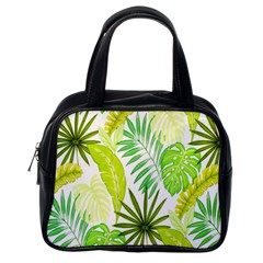 Amazon Forest Natural Green Yellow Leaf Classic Handbags (one Side)