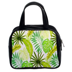 Amazon Forest Natural Green Yellow Leaf Classic Handbags (2 Sides)