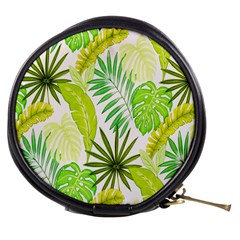 Amazon Forest Natural Green Yellow Leaf Mini Makeup Bags
