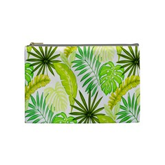Amazon Forest Natural Green Yellow Leaf Cosmetic Bag (medium)