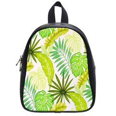 Amazon Forest Natural Green Yellow Leaf School Bag (small)
