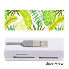 Amazon Forest Natural Green Yellow Leaf Memory Card Reader (stick)