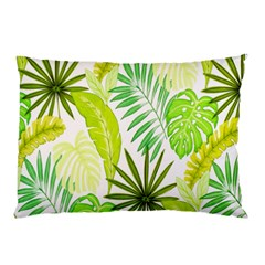 Amazon Forest Natural Green Yellow Leaf Pillow Case (two Sides)