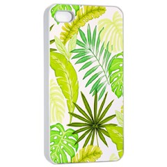Amazon Forest Natural Green Yellow Leaf Apple Iphone 4/4s Seamless Case (white)
