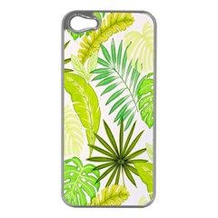 Amazon Forest Natural Green Yellow Leaf Apple Iphone 5 Case (silver)