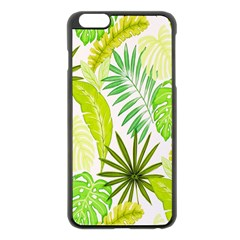 Amazon Forest Natural Green Yellow Leaf Apple Iphone 6 Plus/6s Plus Black Enamel Case