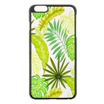Amazon Forest Natural Green Yellow Leaf Apple iPhone 6 Plus/6S Plus Black Enamel Case Front