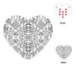 Black Psychedelic Pattern Playing Cards (heart)