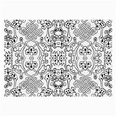 Black Psychedelic Pattern Large Glasses Cloth