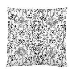 Black Psychedelic Pattern Standard Cushion Case (two Sides)