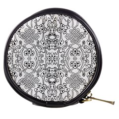 Black Psychedelic Pattern Mini Makeup Bags