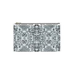 Black Psychedelic Pattern Cosmetic Bag (small)