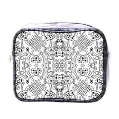 Black Psychedelic Pattern Mini Toiletries Bags