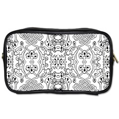 Black Psychedelic Pattern Toiletries Bags 2 Side
