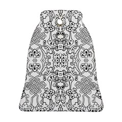 Black Psychedelic Pattern Bell Ornament (two Sides)